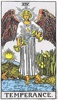 The Temperance Tarot Card