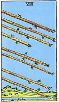 Eight of Wands Tarot Card
