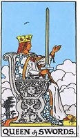 Queen of Swords Tarot Card
