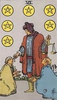 Six of Pentacles Tarot Card