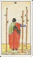 Three of Wands Tarot Card