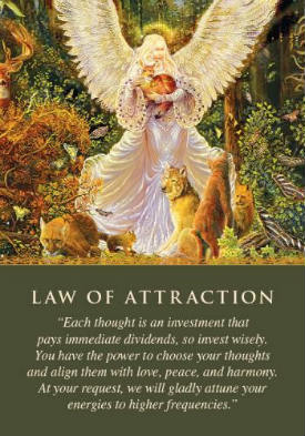 The Law Of Attraction Angel Card