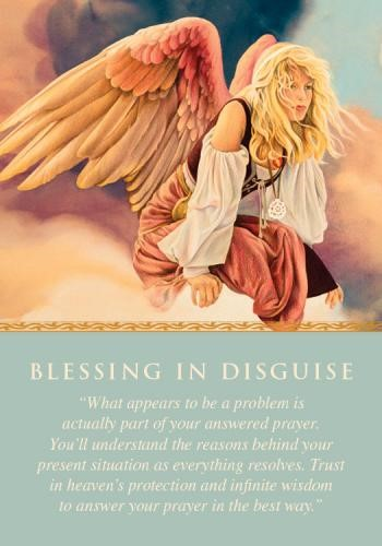 BLESSING IN DISGUISE Angel Card
