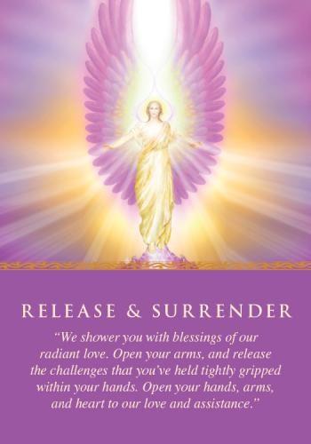 RELEASE & SURRENDER Angel Card