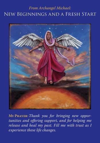NEW BEGINNINGS and FRESH START Angel Card