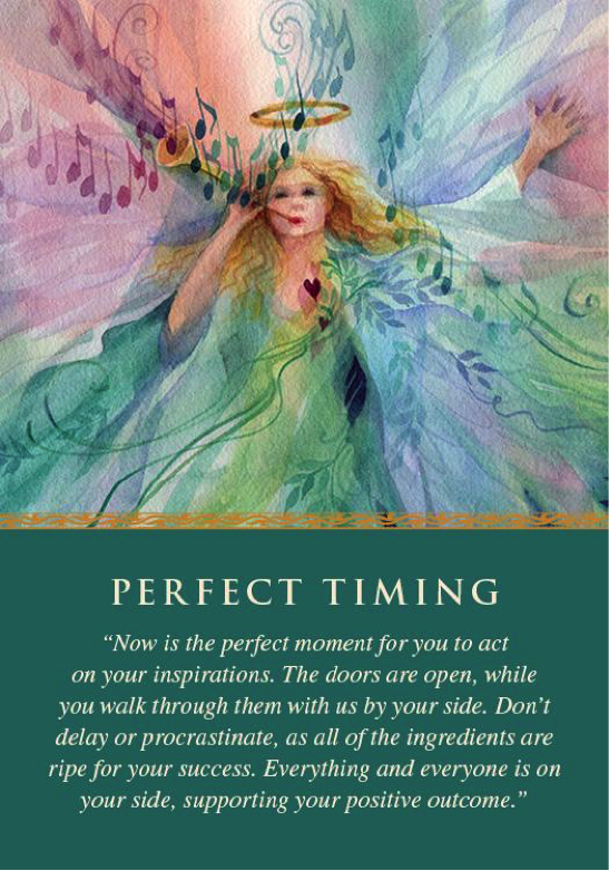 PERFECT TIMING Angel Card